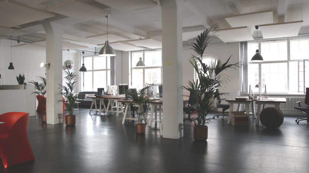 office space concrete floor